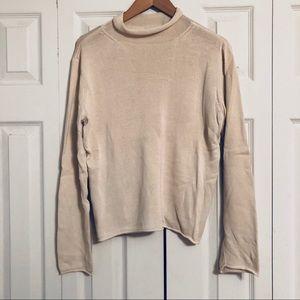 Cream Silk Blend Sweater
